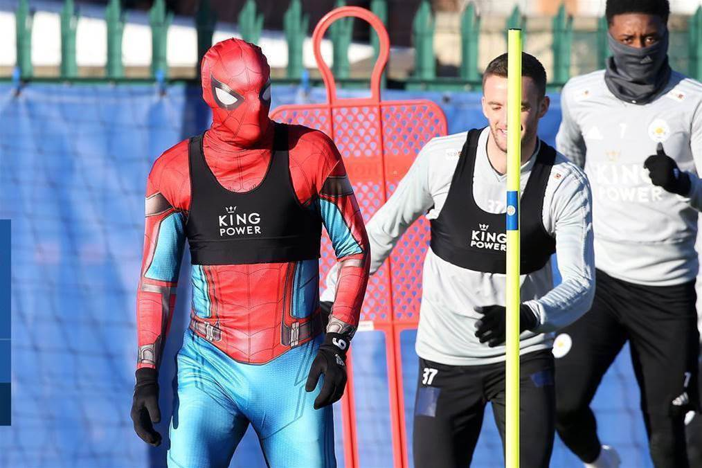 Watch! Spider-Man pays Leicester a visit