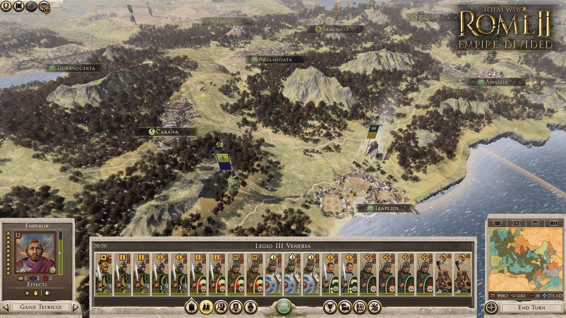 New Rome II: Empire Divided campaign out now