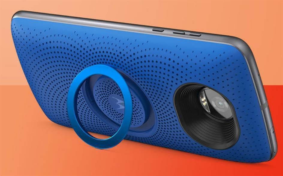 The Stereo Speaker Moto Mod turns your Moto Z into a tiny boombox
