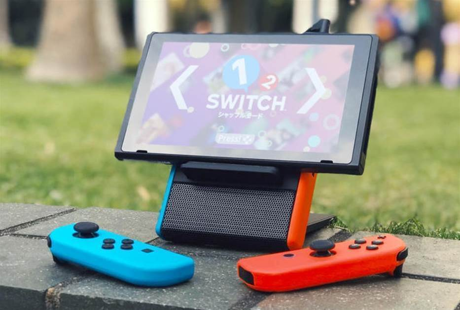 Boost Nintendo Switch gaming on the go with the SwitchEcho stand, speaker and charger combo