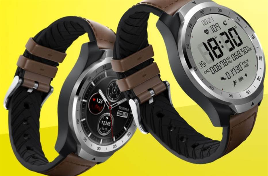 TicWatch Pro is a multilayered smartwatch with a second screen that lasts for 30 days