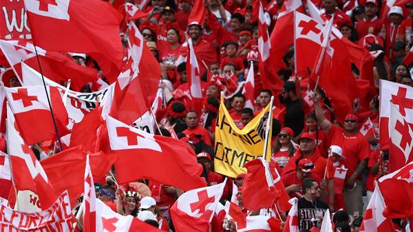 Tonga fans brawl, man tasered by police