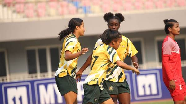 Young Matildas battle for Myanmar win