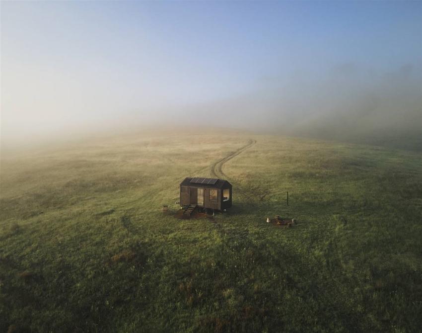win a writer's residency in an off-grid cabin