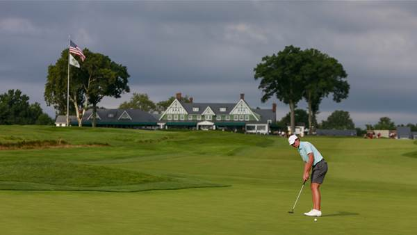 Dobbelaar stakes match play claim at weather delayed U.S. Amateur