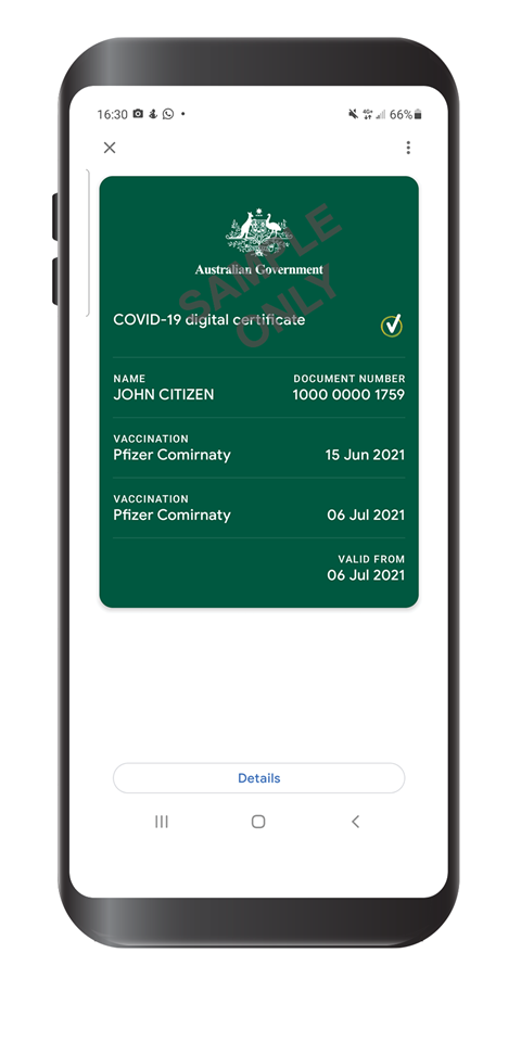 Australian Covid-19 vaccine certificates come to digital wallets