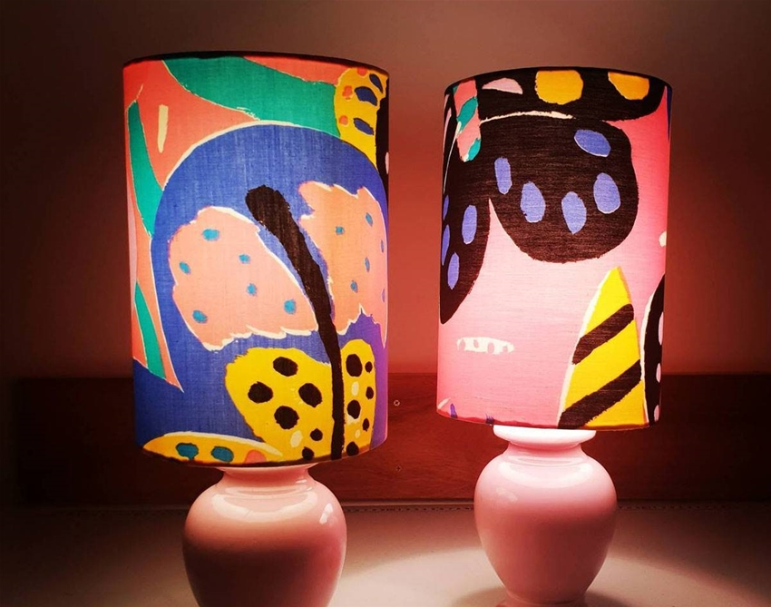 this store is a treasure trove of retro lampshades