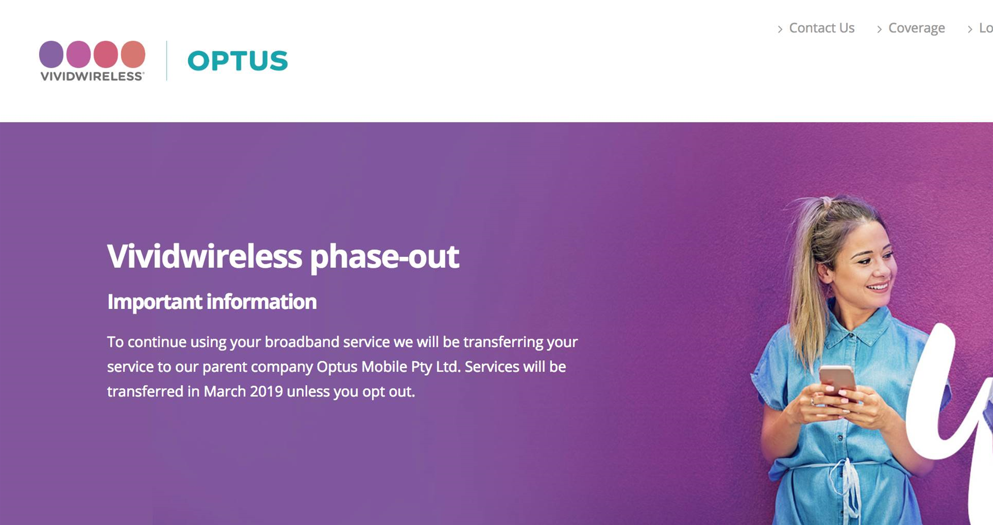 Optus to retire Vividwireless