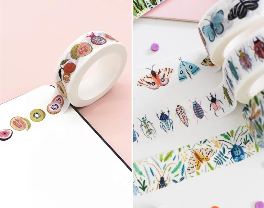 amber davenport's nature-inspired washi tape
