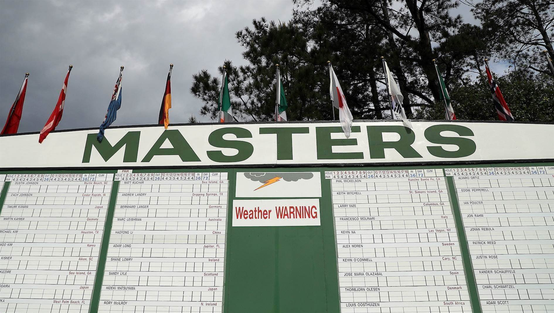 Masters Sunday set for early start and finish