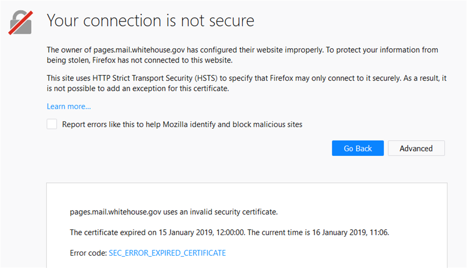 US .gov sites dropping like flies as certs expire