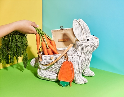 wicker darling's menagerie of cane bags