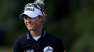 Nelly Korda ties record to take Women's PGA lead