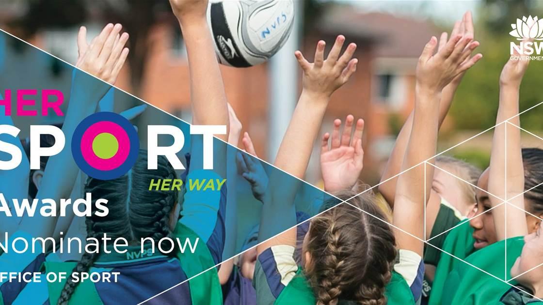 Reward someone dedicated to women's sport! NSW Her Sport Awards now open