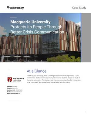 How Macquarie University has prepared for fire and flood