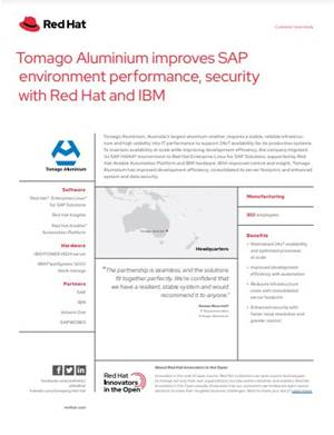 Tomago Aluminium improves SAP environment performance, security with Red Hat and IBM