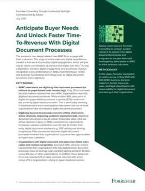 Unlock faster time-to-revenue using Adobe digital document processes