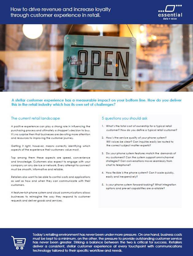 How to drive revenue and increase loyalty through customer experience in retail