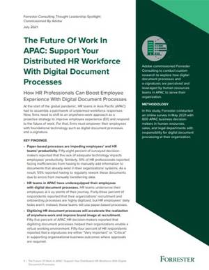 Future of work: Support your distributed HR workforce with digital document processes
