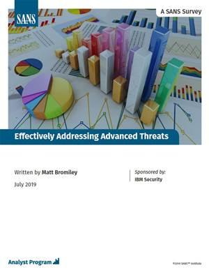 Effectively addressing advanced threats