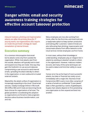 Security awareness training strategies for account takeover protection