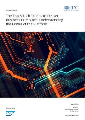 The top 5 tech trends to deliver business outcomes