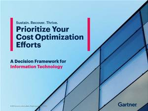 Identify your top cost optimization initiatives for IT