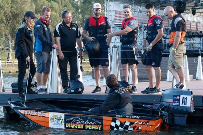 Triple Eight Supercars stars get nautical ahead of Adelaide opener