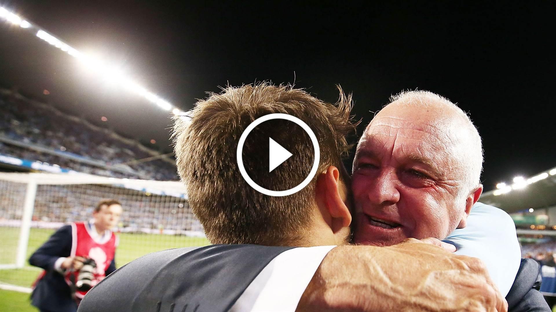 Watch: Sydney's tribute to Arnie