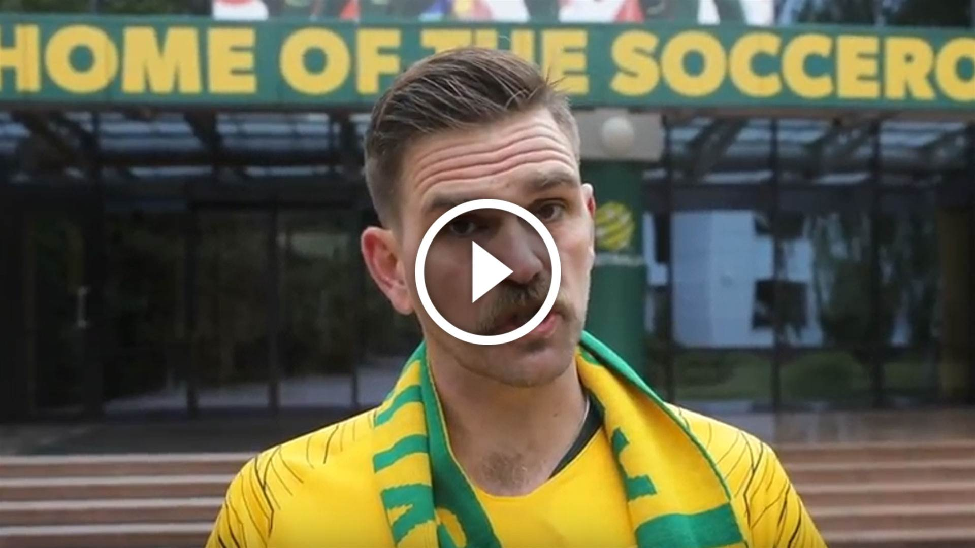 Caltex Socceroos base camp exposé with...erm...Harley Breen