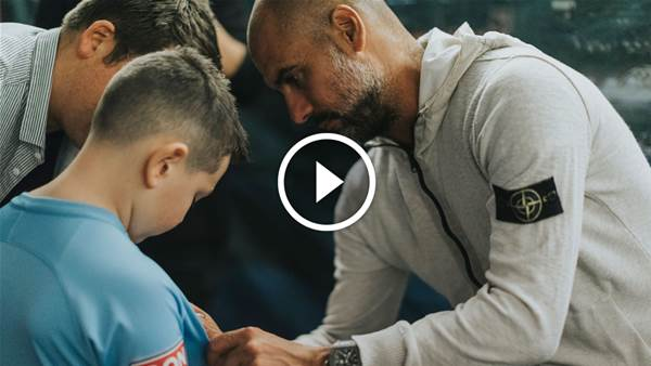 Watch Pep surprise Melbourne City fans: 'You could have knocked me over with a feather!'