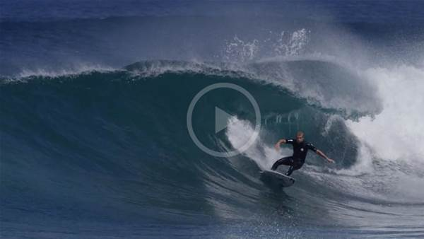 Mick Fanning and Jay Davies in WA