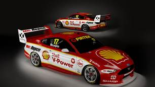 Dick Johnson shows off new DJR Team Penske Mustang Supercars