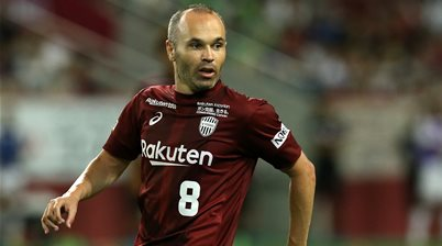Iniesta turns it on with super strike in Japan