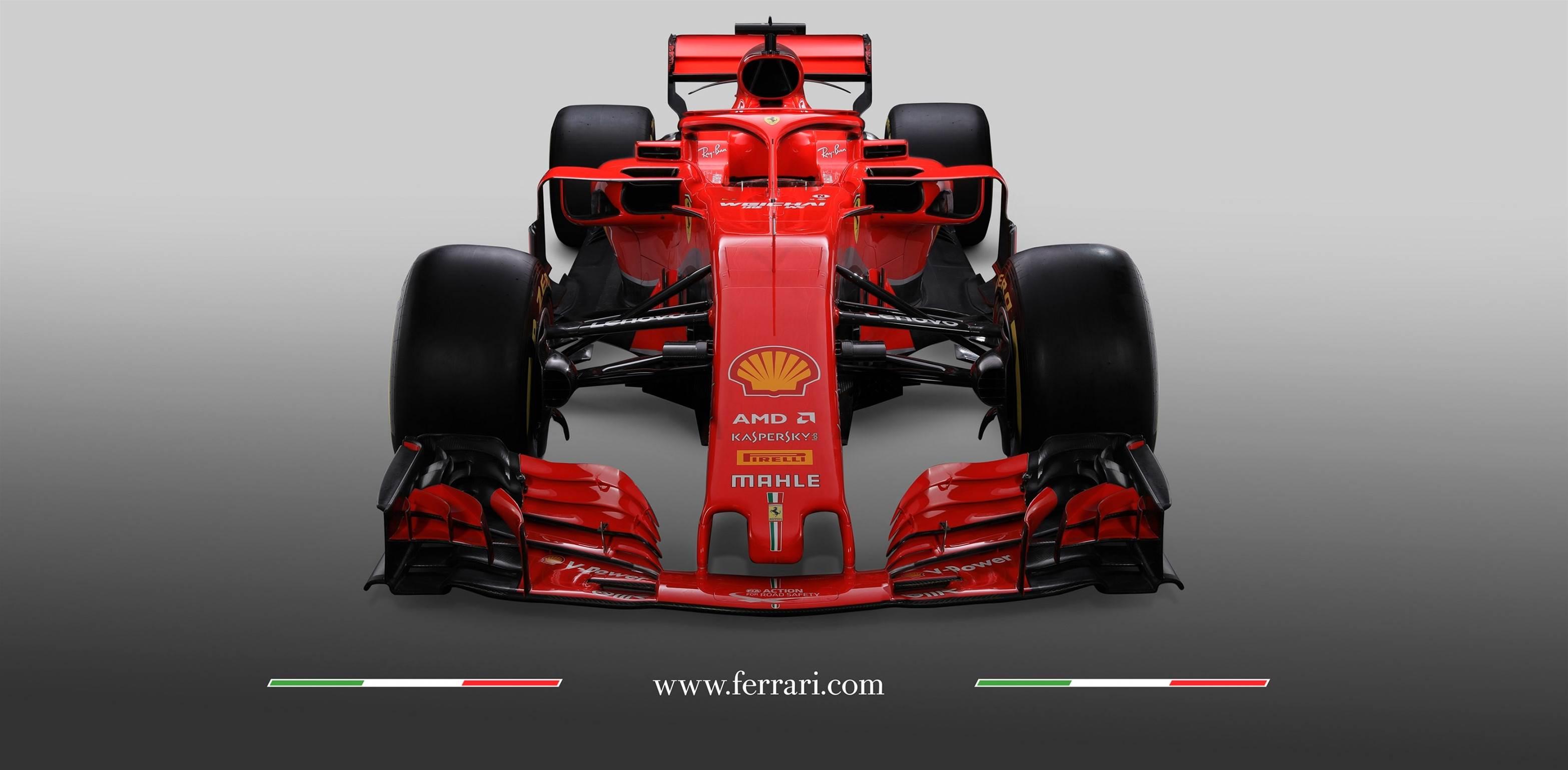 Vettel and Raikkonen on the new Ferrari