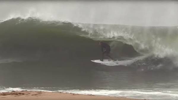 Kolohe Andino, Brad Domke Enjoy a Shorebreak Session for the Ages