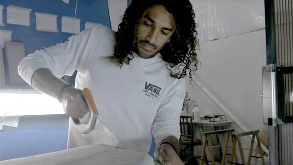 Watch: Adrien Toyon Ride a Self-Shaped Sled at Firing Reunion Island