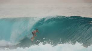 Hawaiian Braiden Maither is So Thrilled to be Home, He Decided to Make a Surf Clip.