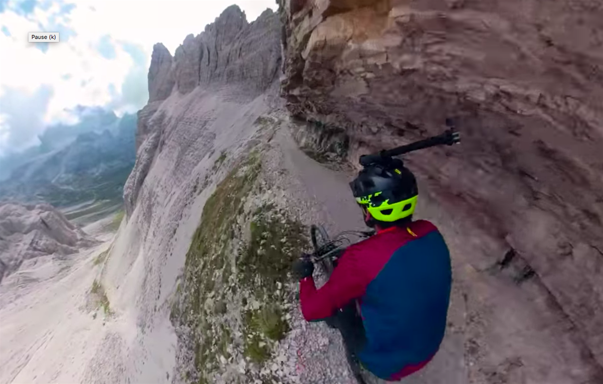 Kilian Bron attacks the Dolomites