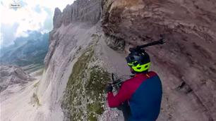 Kilian Bron attacks the Dolomites
