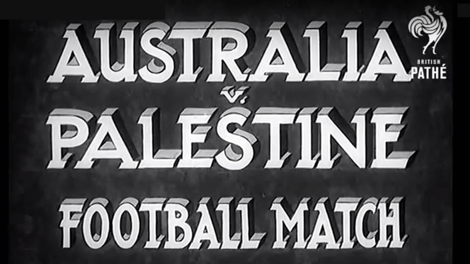 Throwback Thursday! Socceroos v 'Palestine' in 1939