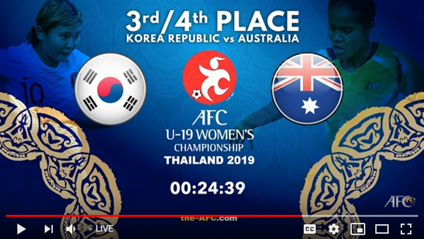 WATCH! Young Matildas v South Korea
