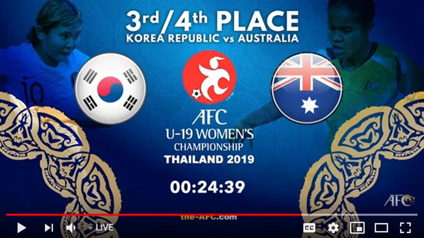 WATCH! Young Matildas v South Korea