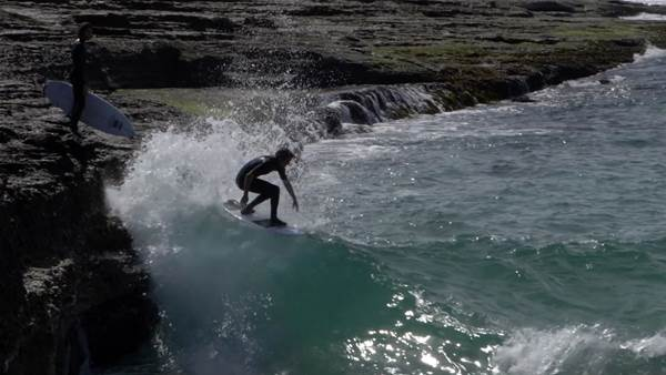 Watch: Craig Anderson and Ben Howard Do Acid (Drops) on NSW's South Coast.