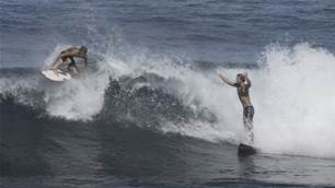 Watch: The First (Unofficial) Annual Aloha Cup Tag-Team Surf-Off!