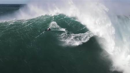 Watch: Kai Lenny's Mind-Bending Jaws Session & Justine Dupont's Record Breaking tube