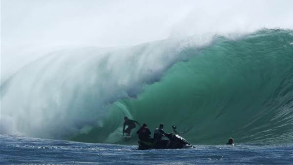Watch: One of the South Coast's Heaviest Waves Just Woke From its Summer Slumber