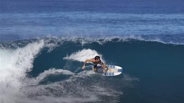 Watch: Mason Ho's Plastic Catching Boat Inspired, Akila Aipa Shaped Craft