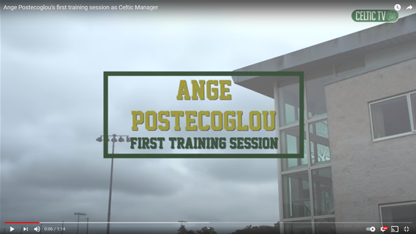 Watch: Postecoglou's first Celtic training session