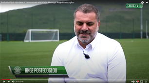 Watch: Postecoglou's first Celtic interview at Lennoxtown